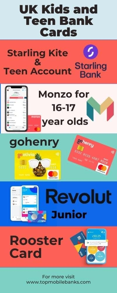 teen and kids bank cards uk